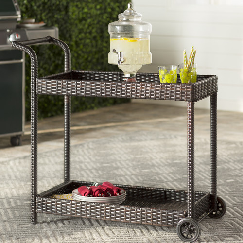 Brayden Studio Marchese Bar Serving Cart by
