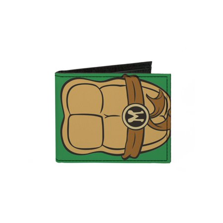 Turtle Wallet (TMNT Cartoon TV Series Michelangelo Shell Canvas Bi-Fold Wallet)