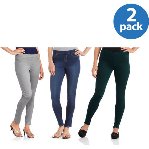 Faded Glory Women's Premium Pull-On Jeggings 2pk Value Bundle