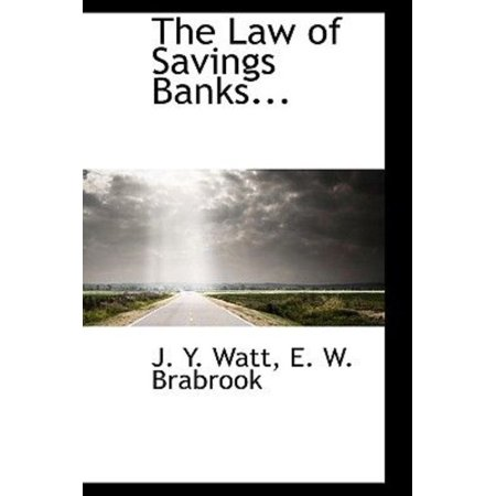 The Law Of Savings Banks