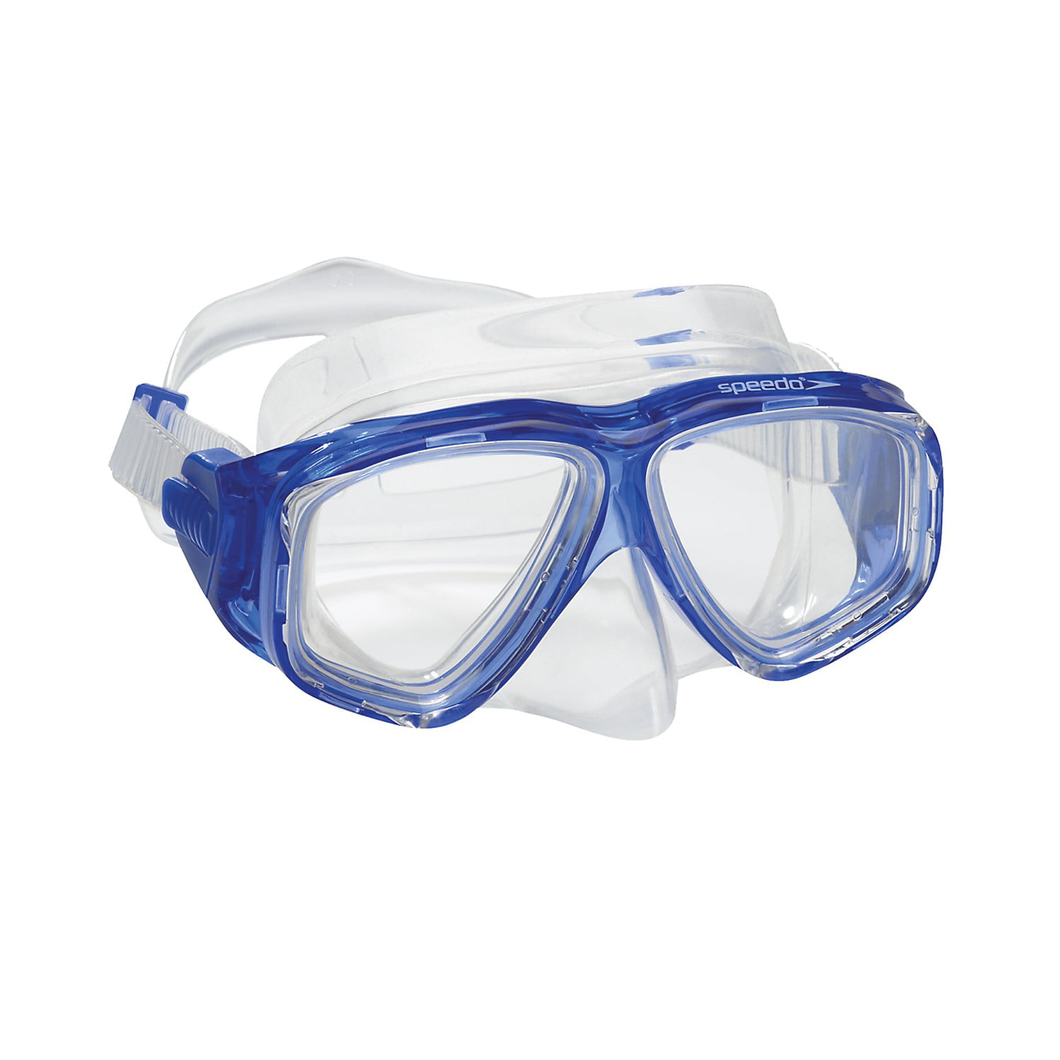 Speedo Swim Adult Recreation Dive Mask Snorkeling Swimming Goggles Blue by Speedo