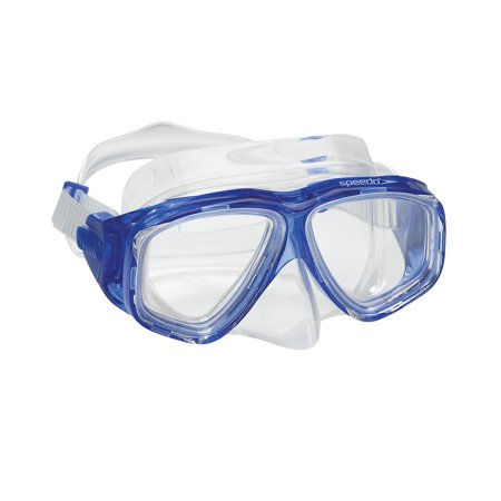Speedo Swim Adult Recreation Dive Mask Snorkeling Swimming Goggles Blue
