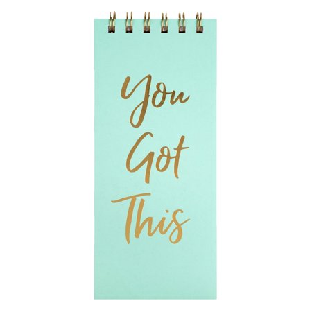 You Got This Gold Script Top Spiral Hardcover Notepad, (Gold Notepad)