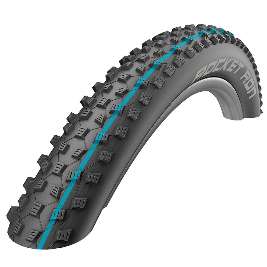 "Schwalbe Rocket Ron Tire: 29 x 2.25"" Tubeless Easy SnakeSkin with Addix Speedgrip Compound, Folding Bead, Black"