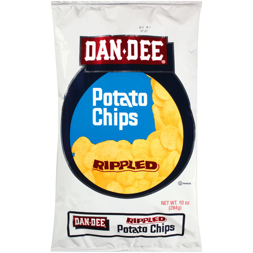 Dan Dee Rippled Potato Chips, 10 oz