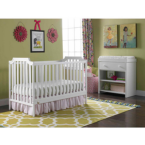 Fisher-Price Providence 3-in-1 Convertible Crib Collection, Snow White
