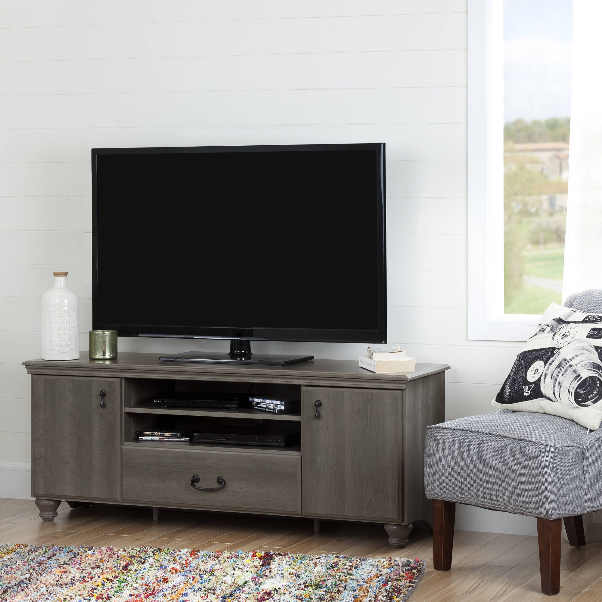 "South Shore Noble TV Stand for TVs up to 65"", Multiple Finishes"