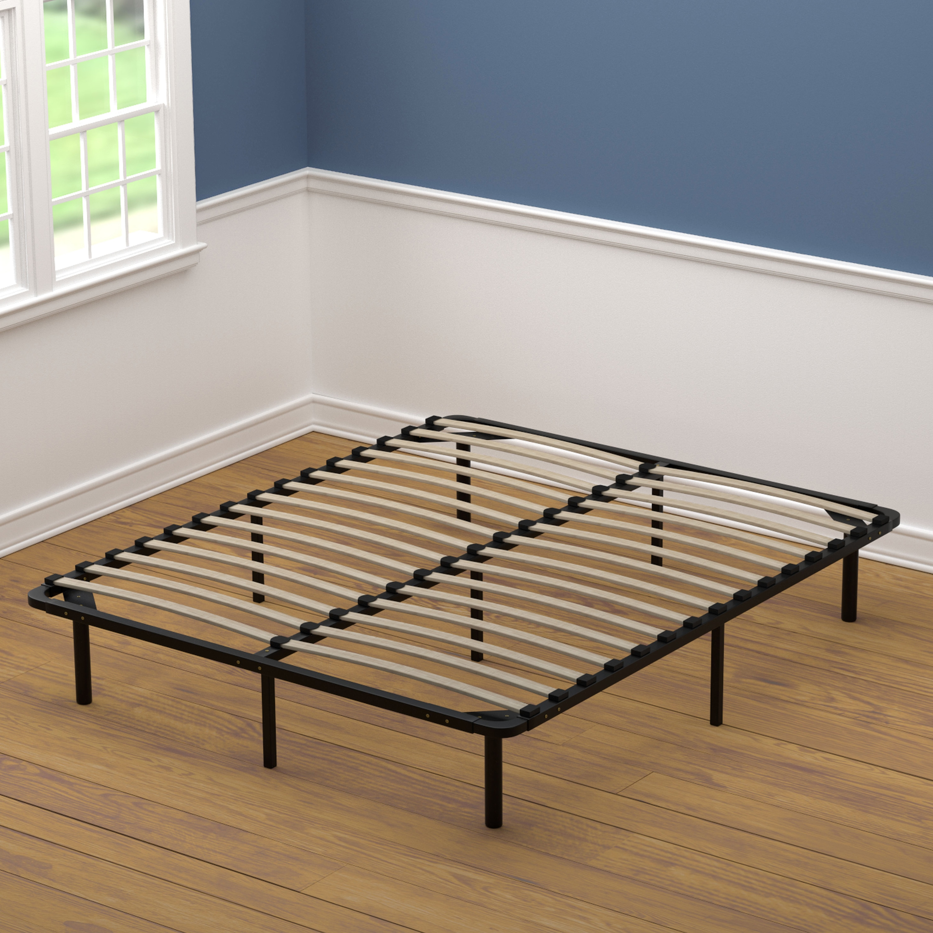 Handy Living  Queen Size Wood Slat Bed Frame