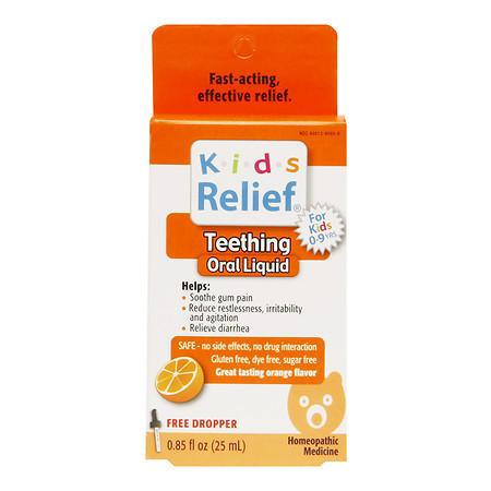 Homeolab USA Kids Relief Teething Oral Liquid, Ages 0-9 Orange 0.85 fl oz(pack of 12)