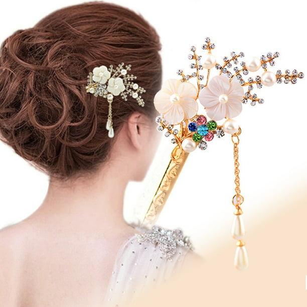 Details about  /Hot Fashion Women Pearl Flower Barrette Hair Clip Stick Hairpin Hair Accessories