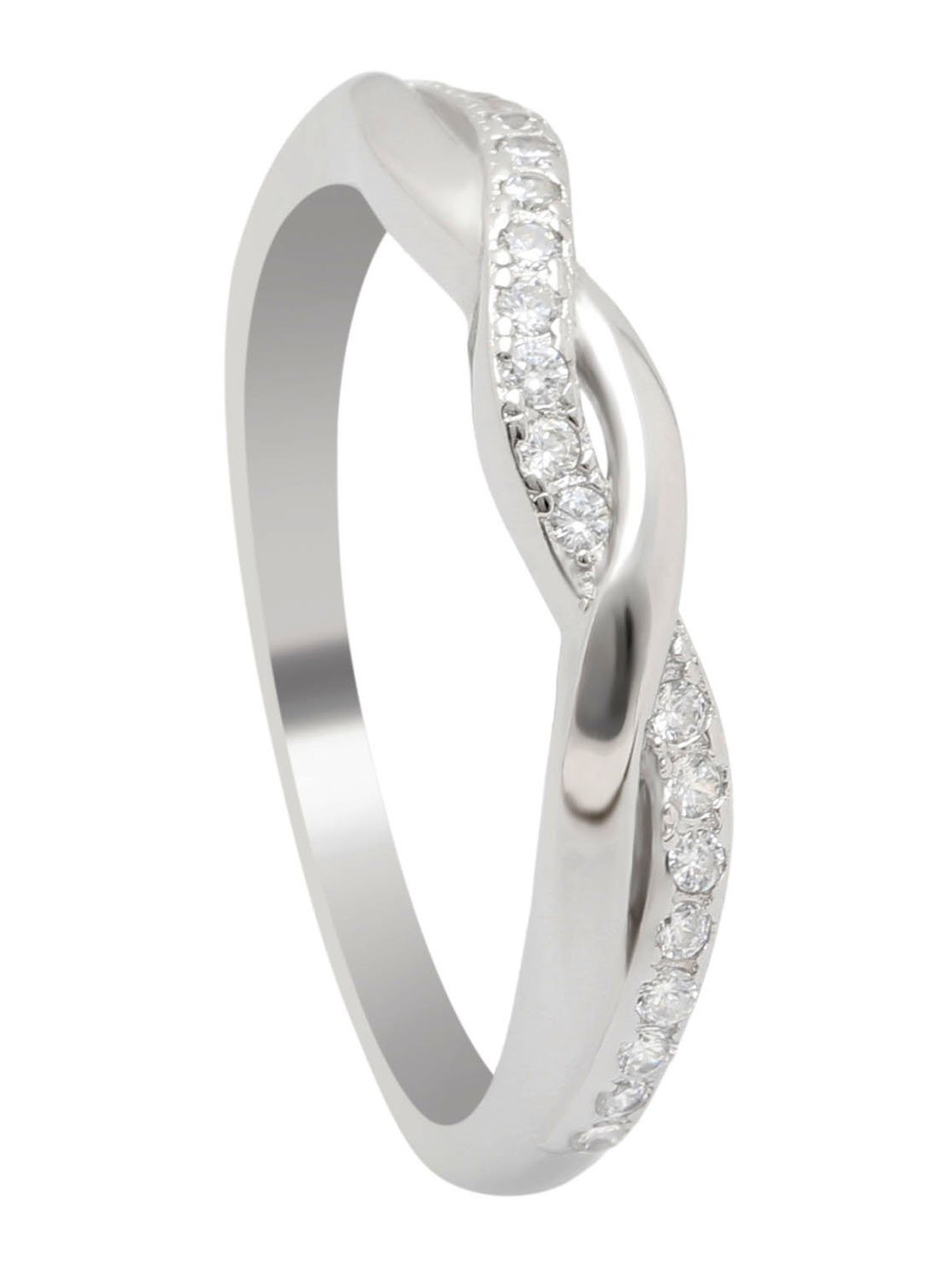 Princess Kylie Clear Cubic Zirconia Three Rounded Arrow Ring Sterling Silver