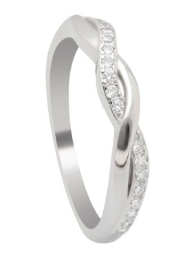 27dea88c03f801 Product Image Queena Twisted Sterling Silver Anniversary Wedding Band Ring-  Ginger Lyne Collection