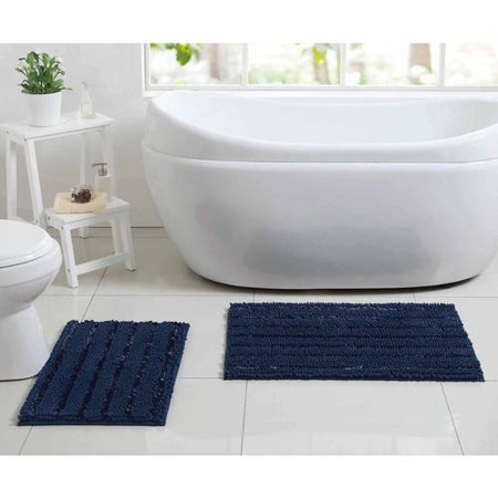 Better Homes And Gardens Chenille Noodle 2 Piece Bath Rug Set
