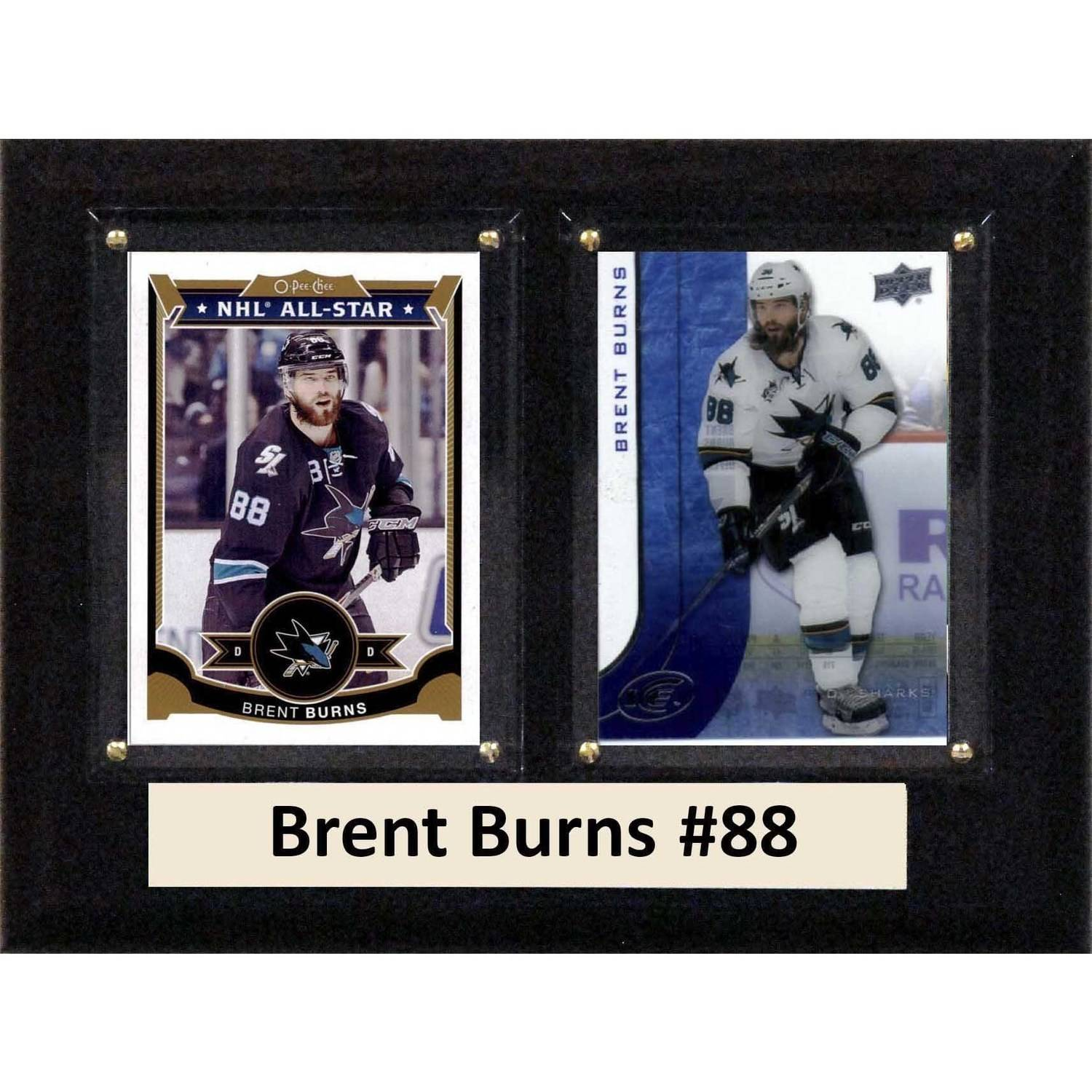"C & I Collectables NHL 6"" x 8"" Brent Burns San Jose Sharks Two-Card Plaque"