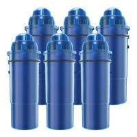 AQUACREST CRF-950Z Pitcher Water Filter, Compatible with Pur Pitchers and Dispensers PPT700W, CR-1100C, DS-1800Z and More (Pack of 6)