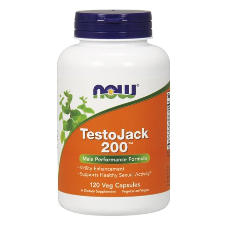 Solid Gold Supplements (NOW TestoJack 200 Vegetable Capsules, 120)