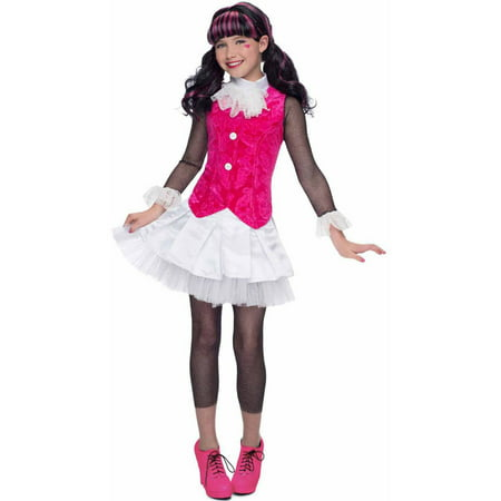 Deluxe Monster High Draculaura Girls' Child Halloween Costume](Draculaura Monster High Halloween Costume)