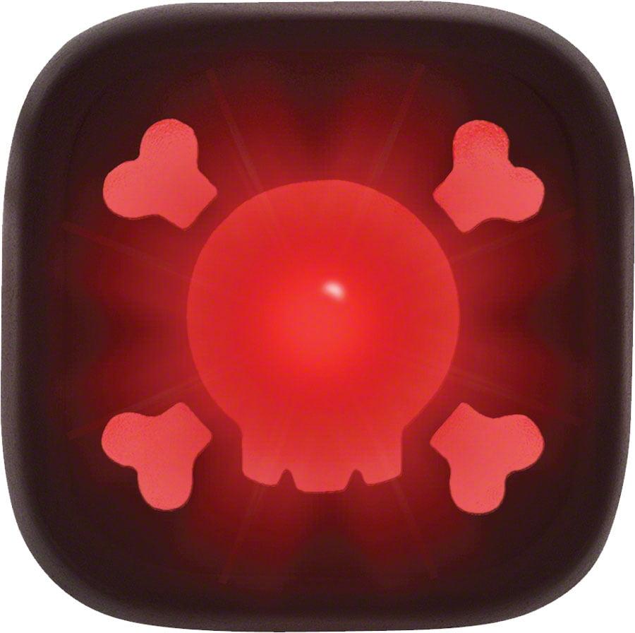 KNOG Blinder 1 Skull USB Rechargeable Rear Light Red LED Black