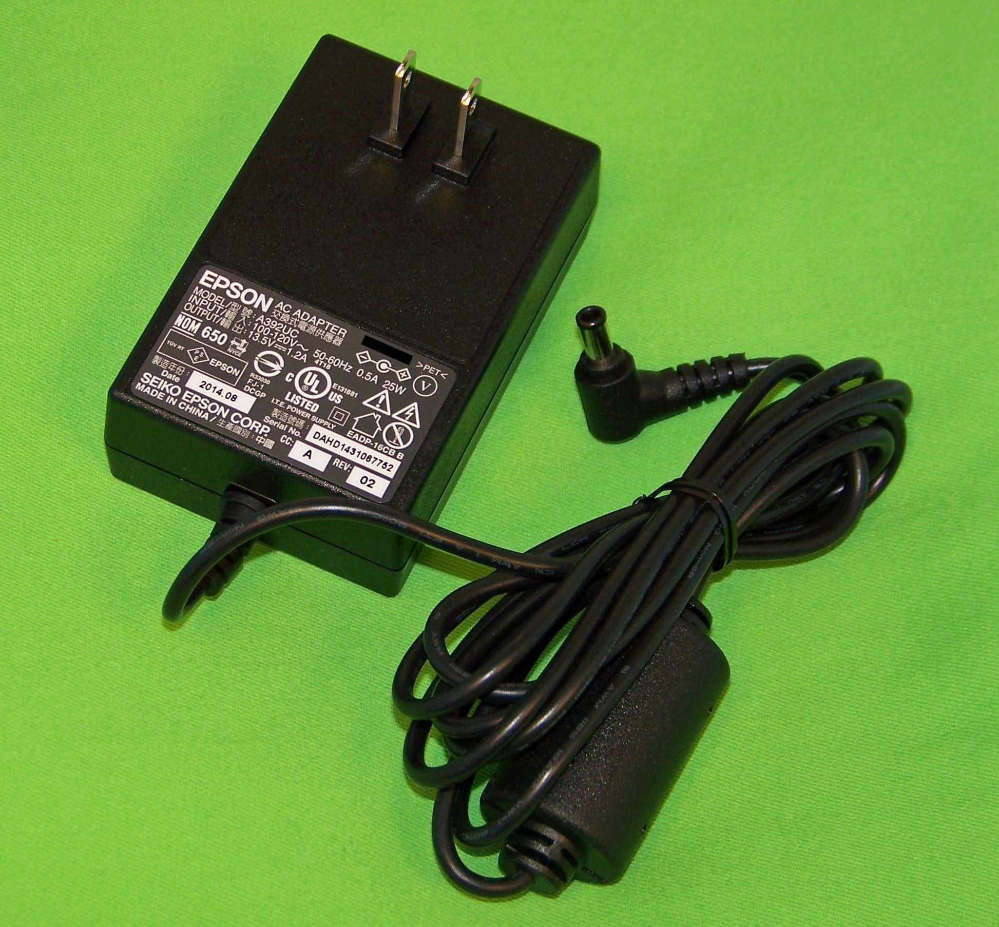 OEM Epson AC Adapter USA Only: Perfection V37, V370, V330...