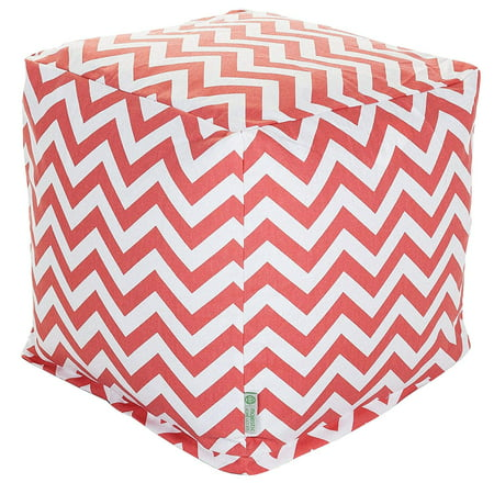 Majestic Home Goods Chevron Indoor Ottoman Pouf Cube ()