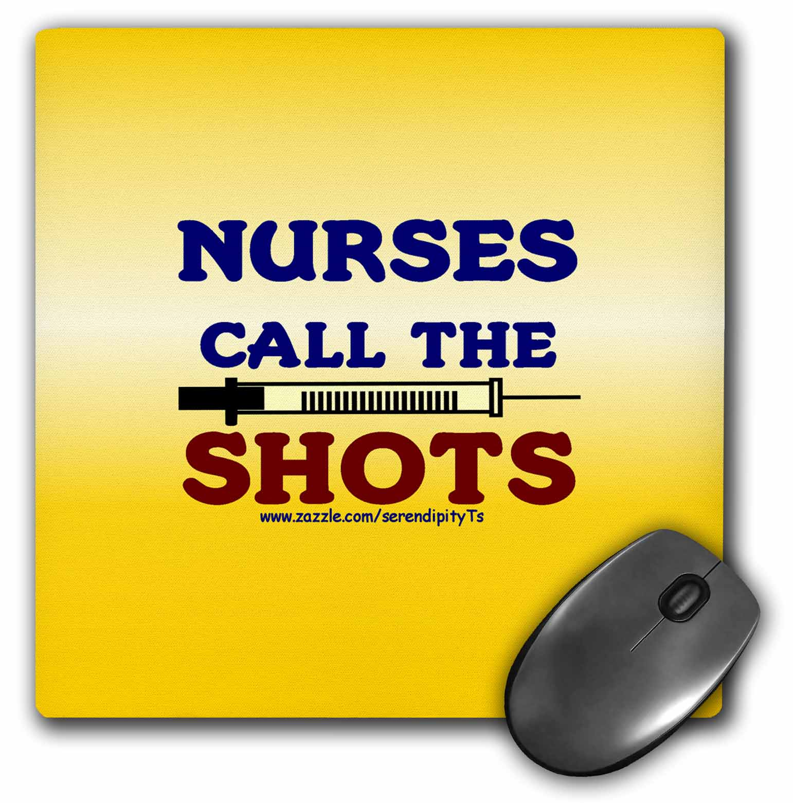 3dRose Nurses Call The Shots, Mouse Pad, 8 by 8 inches