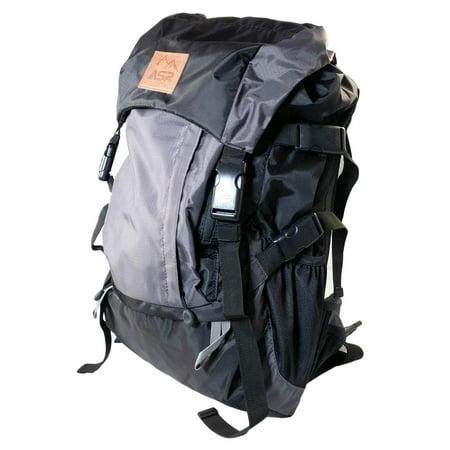 ASR Outdoor 25L Weekender Day Pack Hiking Backpack Hooded Top Adjustable ()