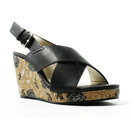 Annie Ankle Strap (Annie Womens Xf0497-C1-W Black Ankle Strap Sandals Size 6 (C,D,W) )