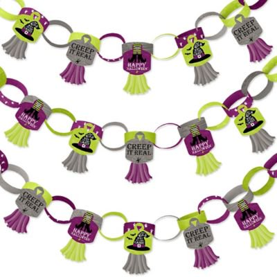 Happy Halloween Century 21 (Happy Halloween - 90 Chain Links and 30 Paper Tassels Decoration Kit - Witch Party Paper Chains Garland - 21)