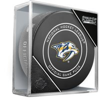 Nashville Predators Unsigned InGlasCo 2019 Stanley Cup Playoffs Official Game Puck