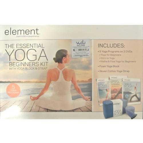Element: The Essential Yoga Beginners Kit With Yoga Block & Strap (DVD + VUDU Digital Copy) (Walmart Exclusive))