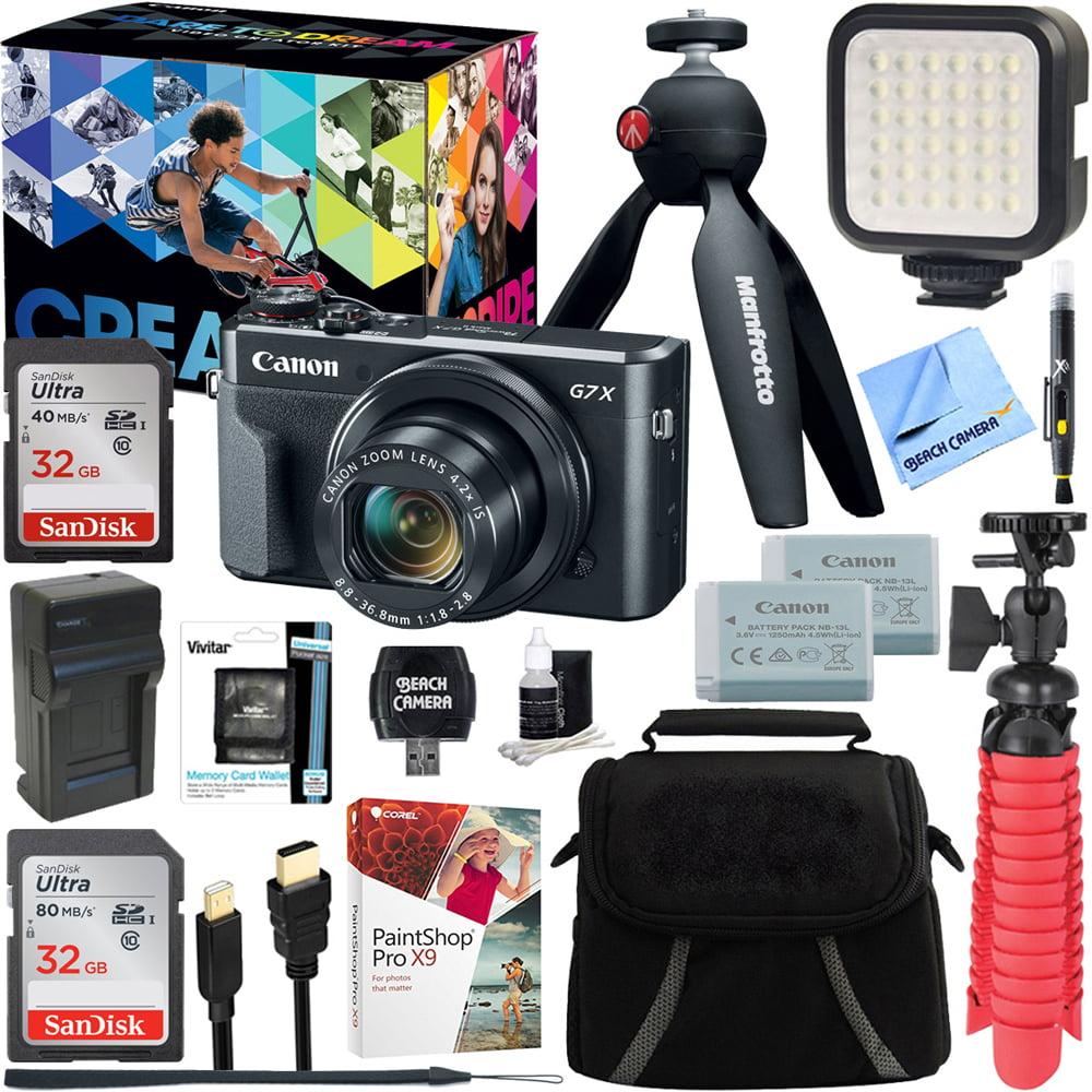 Canon PowerShot G7 X Mark II 20.1MP 4.2x Optical Zoom Digital Camera Video Creator Kit + 32GB SDHC Memory Card + Accessory Bundle