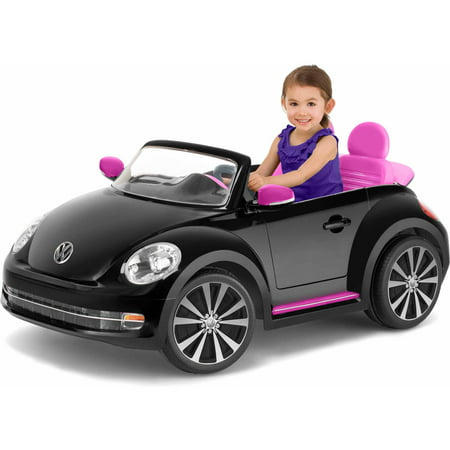 Kid Trax Vw Beetle Convertible 12 Volt Battery Powered Ride On  Black