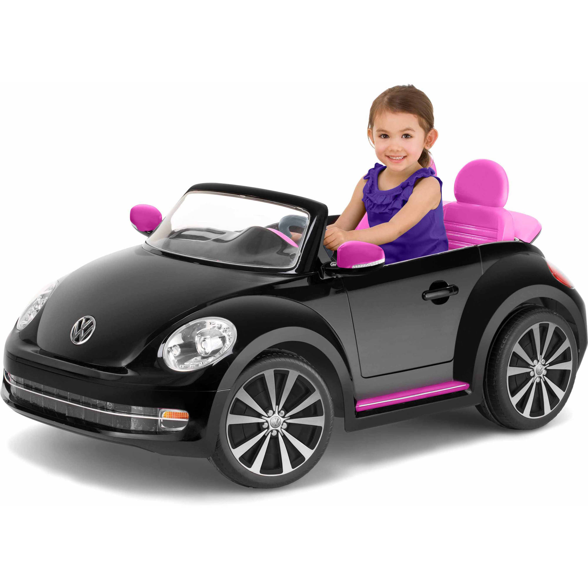 Kid Trax VW Beetle Convertible 12-Volt Battery-Powered Ride-On, Black