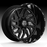 TIS 544BM Black Milled 22x12 8x180 -44mm (544BM-2228944)