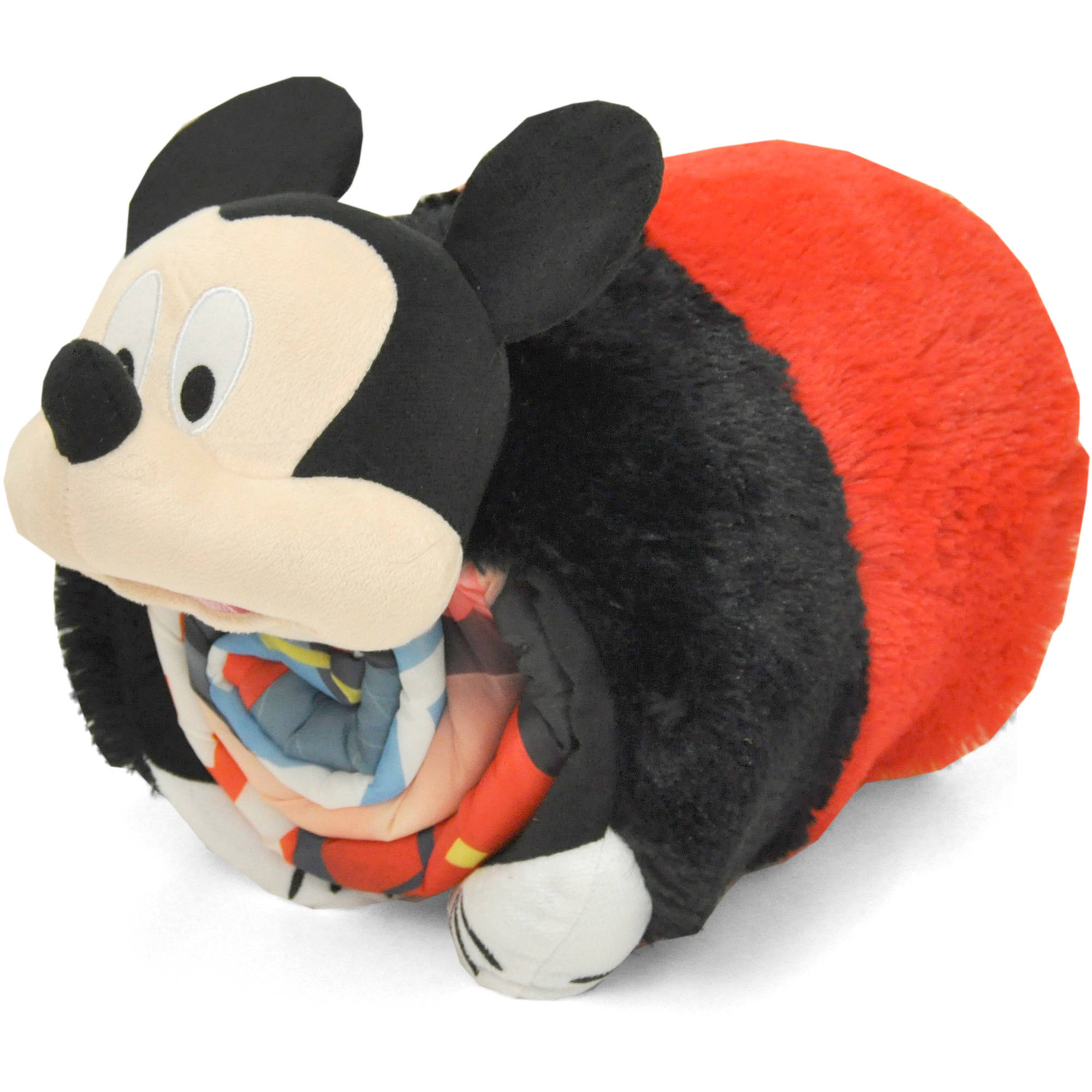 Mickey Mouse Sleeping Bag With Bonus Cuddle Pillow Walmartcom