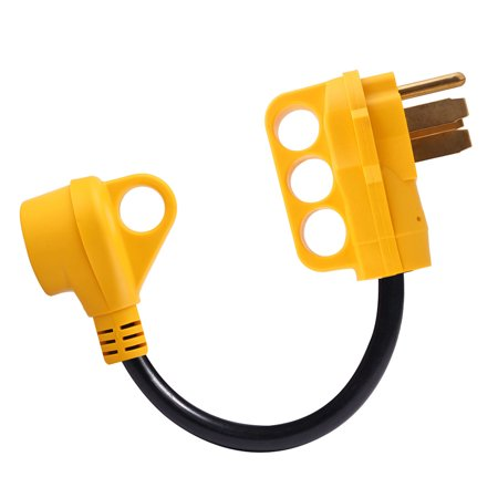 iMounTEK RV Electrical Dogbone Converter 50 AMP Male To 30 AMP Female Adapter Cable 12inch w/