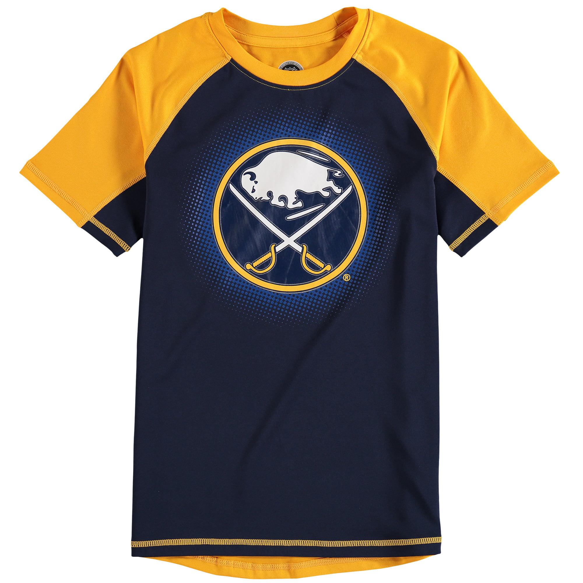 Buffalo Sabres Youth Color Block Rash Guard T-Shirt - Navy/Gold