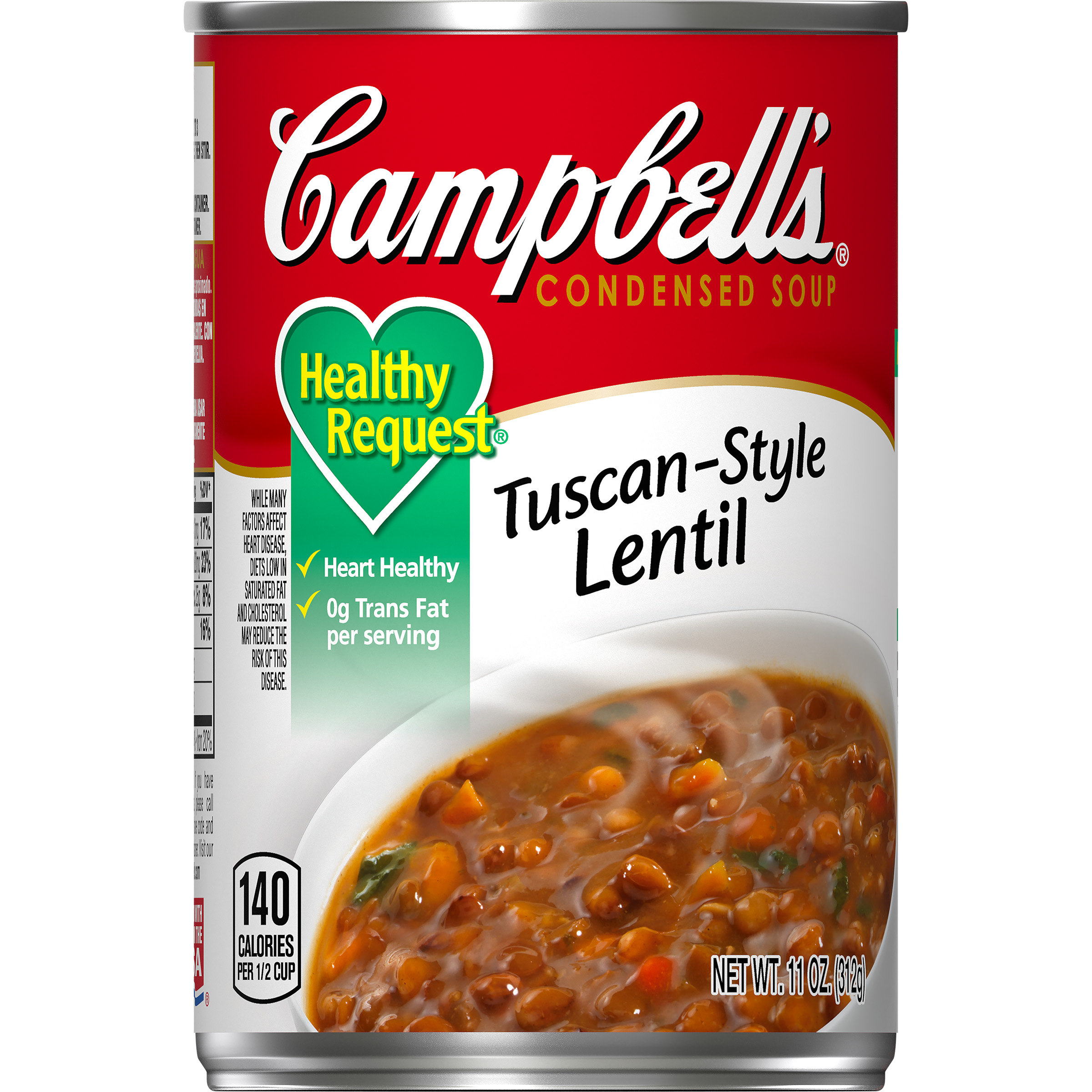 Campbell\'s Condensed Healthy Request Tuscan-Style Lentil Soup, 11 oz ...