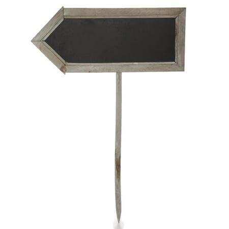 Two Sided Arrow Shaped Chalkboard Sign - Large 17in - Chalkboard Arrow