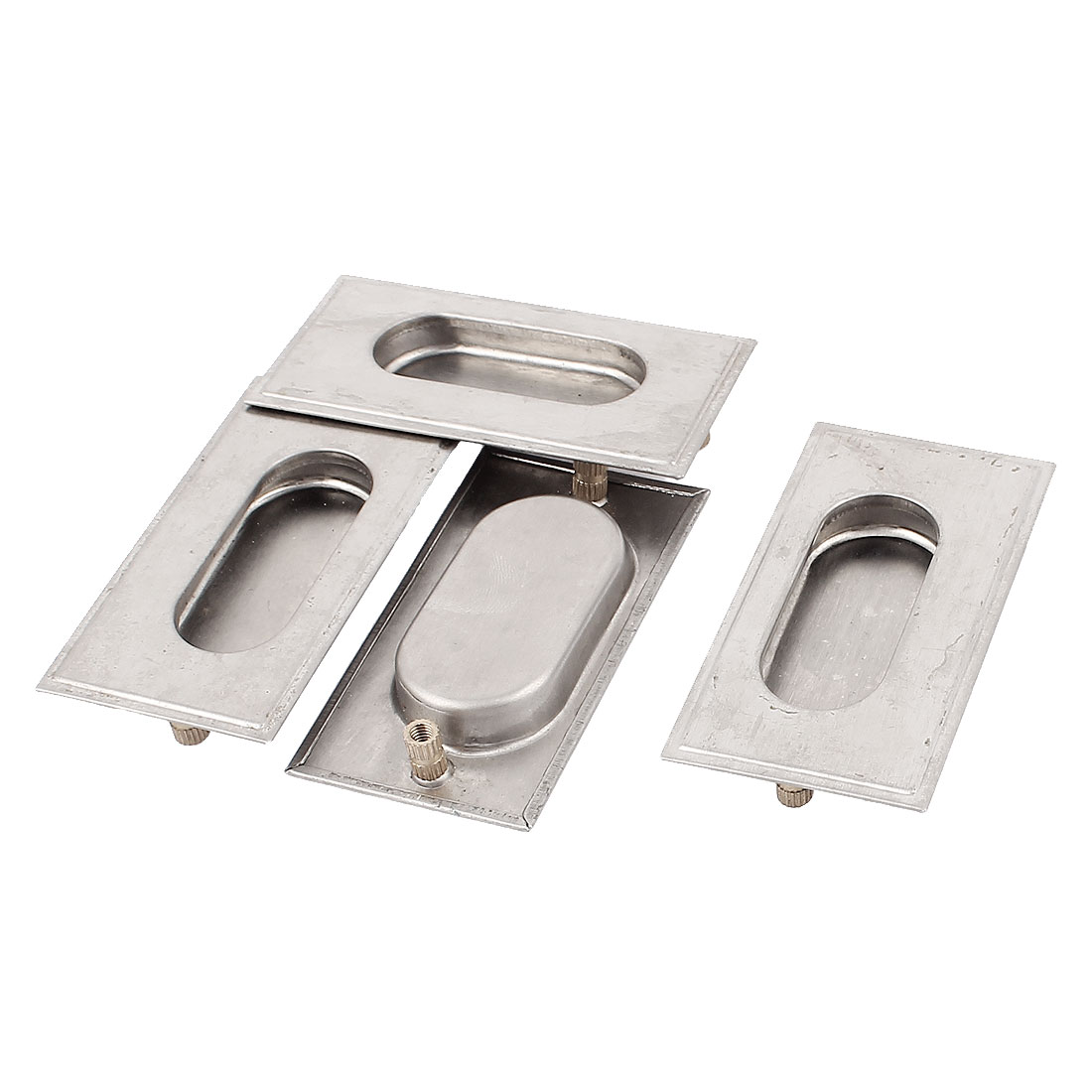 4 Pcs 78mmx41mm Stainless Steel Recessed Flush Pull Sliding Door Handle
