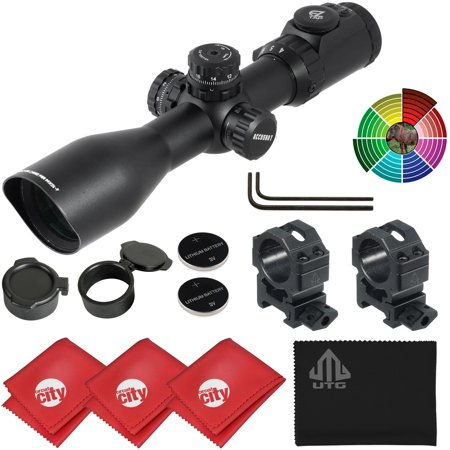 UTG Accushot 4-16X44 30mm 36-color Mil-Dot Compact Tactical Rifle Scope w/ Microfiber Clothes