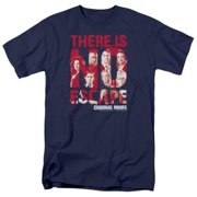 Trevco Criminal Minds-No Escape - Short Sleeve Adult 18-1 Tee - Navy, 3X