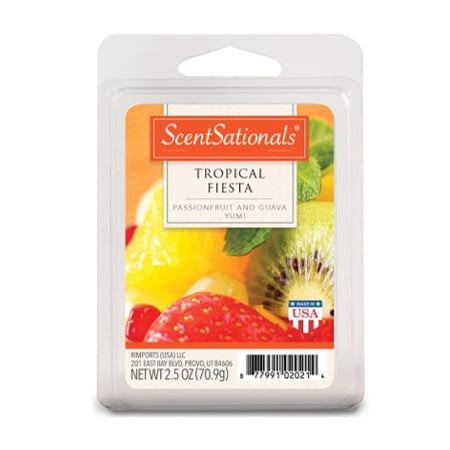 (2 Pack) ScentSationals 2.5 oz Tropical Fiesta Scented Wax Melts (Tropical Surf Wax)