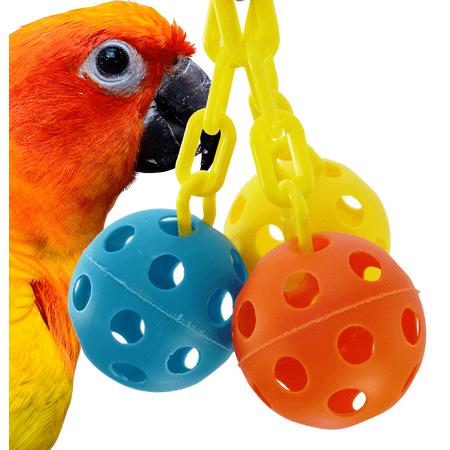Bonka Bird Toys 1225 Triple Chain Ball Bird Toy.