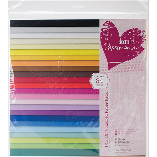 "Papermania Paper Pack, 12"" x 12"", 48pk, Coloured"