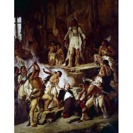 Pocahontas and John Smith Victor Nehlig (1830-1909 American) Canvas Art - Victor Nehlig (18 x 24) (Pocahontas And John Smith Costumes For Adults)