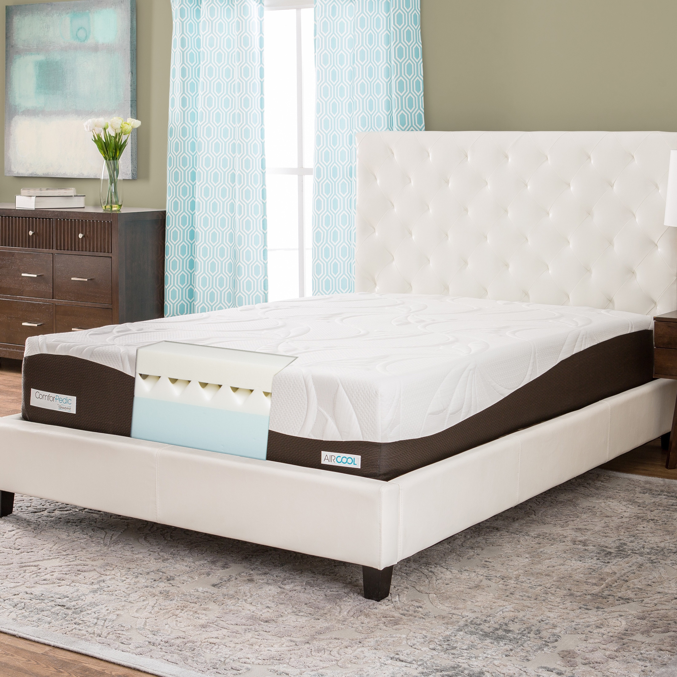 Simmons Beautyrest ComforPedic from Beautyrest 12-inch King-size Memory Foam Mattress by Overstock