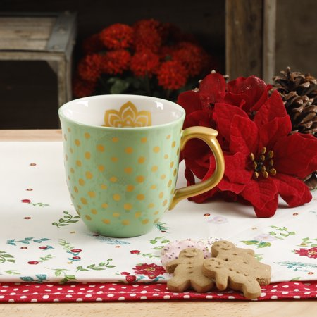 The Pioneer Woman Holiday Charm Mint 135oz Mug Walmartcom