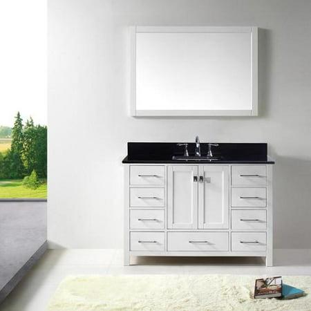 Virtu Usa Caroline Avenue 48 Inch Single Bathroom Vanity Cabinet Set In White
