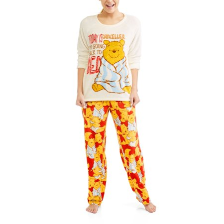 POOH - Disney Winnie the Women s License 2pc pajama set - Walmart.com 06dc9a0419